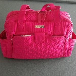"Bright pink ""Fushcia"" Stroll Around diaper bag"